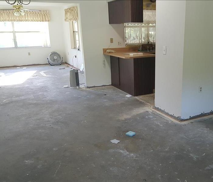Flooded kitchen in New Port Richey Before